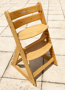 Childs solid timber high chair