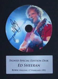 Ed Sheeran Signed Mounted CD Display, Autograph