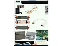 I want to buy all apple sony Samsung macbooks with warranty sony ps4 electric skateboard