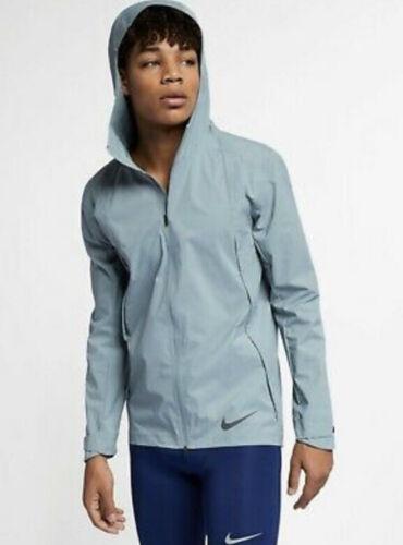Mens Nike Zonal Aeroshield Running Jacket Gray Size Large 2XL 928481-041
