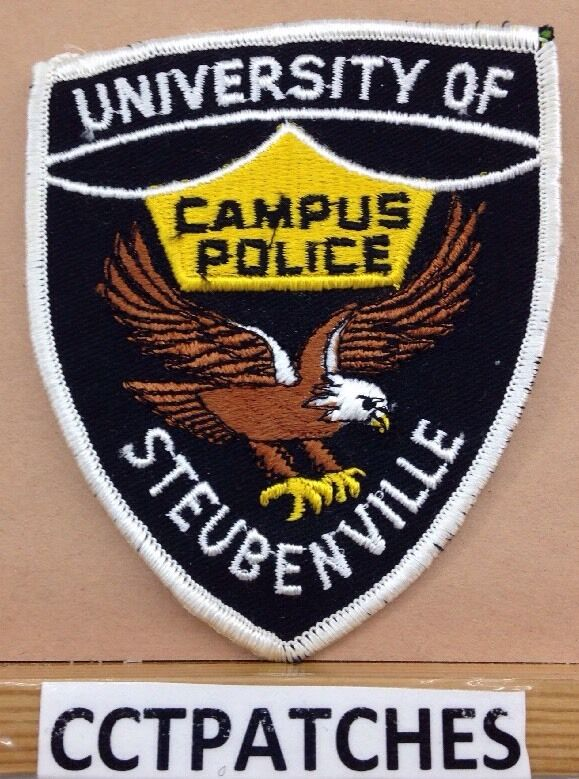 UNIVERSITY OF STEUBENVILLE, OHIO CAMPUS POLICE SHOULDER PATCH OH