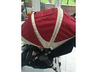 Baby jogger extra seat unit hood and cosy toes