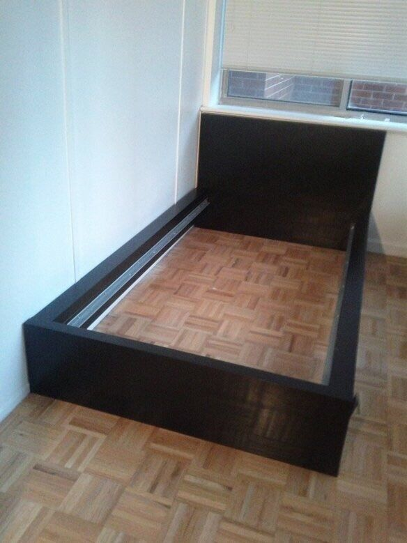 Ikea malm single bed frame low buy sale and trade ads for Ikea malm bed low