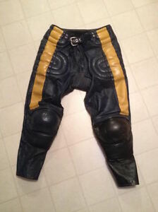 LEATHER MOTORCYCLE RACING MOTOCROSS MX PANTS Belleville Belleville Area image 1
