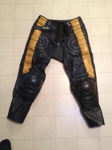 LEATHER MOTORCYCLE RACING MOTOCROSS MX PANTS Belleville Belleville Area image 7