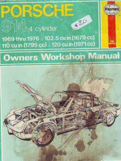 PORSCHE 914   WORKSHOP MANUAL******1976 1679cc 1971cc 1795cc Sefton Bankstown Area Preview