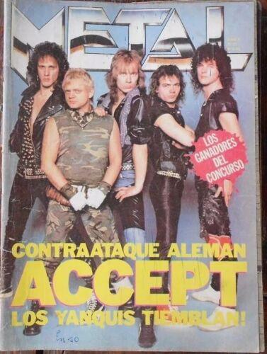 ACCEPT Argentina Magazine 1985 - Metal