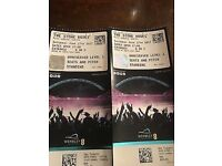 2 Stone Roses tickets. Wembley 17th June. Pitch Stand & Unreserved Level 1 Seats.