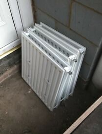 3 white radiators in good working condition