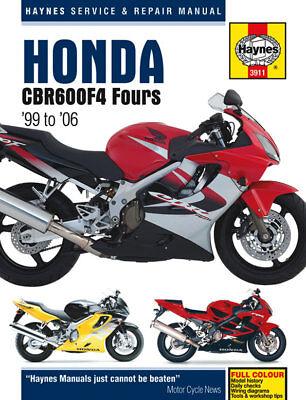 Haynes Manual 3911 Honda CBR600F4  CBR600 CBR600FX - FS2 1999-2006 NEW