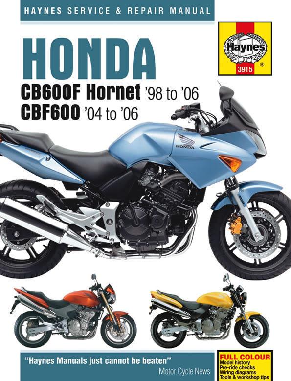 Haynes Manual Honda CB600F 1998-2006 Hornet CB600 Workshop Manual