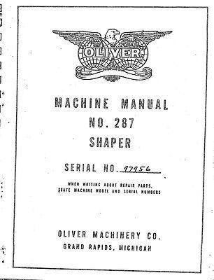 Oliver 287 Shaper Manual Parts List Pdf