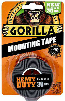 Gorilla 6055002 Double-sided Heavy Duty Mounting Tape 30 Lb Black 1 X 60