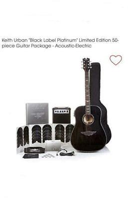 "Keith Urban ""Black Label Platinum"" 50-pc Acoustic Electric Guitar Pkg Black Onyx"