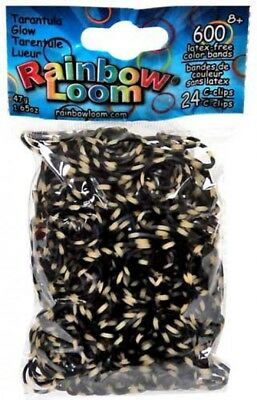 en Glow Series Tarantula Rubber Bands Refill Pack [600 ct] (Loom Bands Halloween)