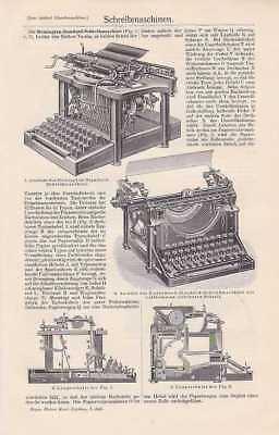 Schreibmaschinen Adler Remington STICHE Text von 1912 Buchschreibmaschine