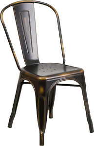 RESTAURANT INDUSTRIAL AND TOLIX STYLE DINING CHAIR