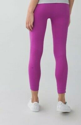 Lululemon Size 4 Zone In Tight Crop Pant Legging Plum Magenta Purple