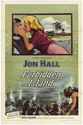 FORBIDDEN ISLAND Movie POSTER 27x40 John Farrow Jon Hall Nan Adams Jonathan (Jonathan Farrow)