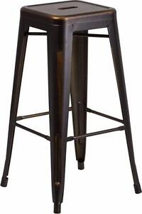 100 RESTAURANT INDUSTRIAL TOLIX STYLE METAL BAR STOOL COUNTER STOOL