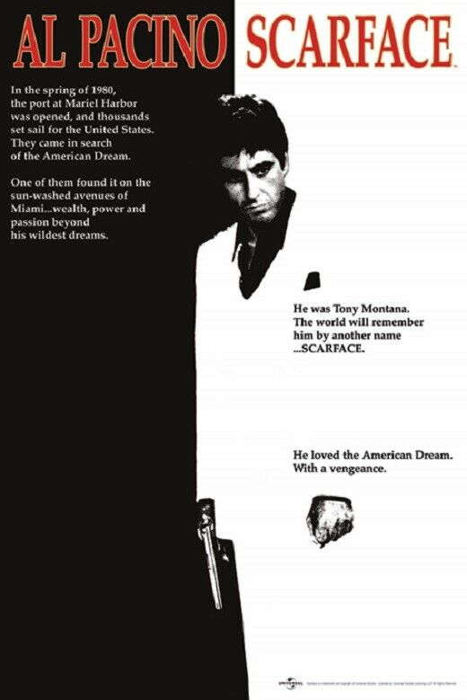 SCARFACE MOVIE POSTER, size 24x36