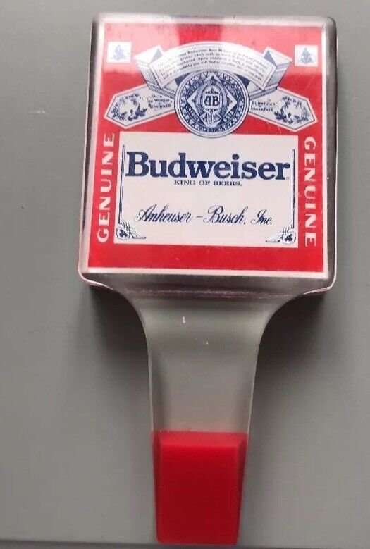 """Vintage Budweiser Logo Beer Tap Handle Retro Style """"King of Beers"""" Collectible"""