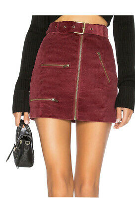 House Of Harlow 1960 Revolve  Tori Skirt Berry Red Size Small Uk 6-8 RRP £141