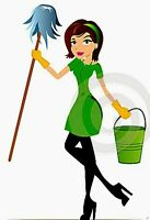 young lady looking for a job as a housekeeper