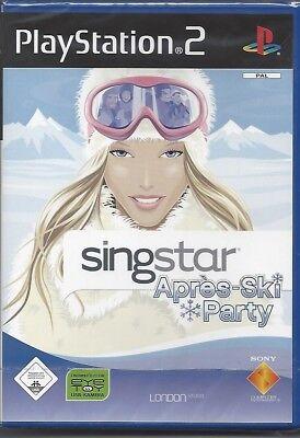 SINGSTAR APRES SKI PARTY NEW PLAYSTATION 2 DISC 2007 PS 2 GAME NEU