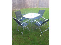 Garden patios set with table and 4 chairs