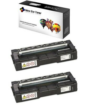 2pk - Black Toner Cartridge For Ricoh Aficio SP C250SF, SP C250DN, SP C261SFNw