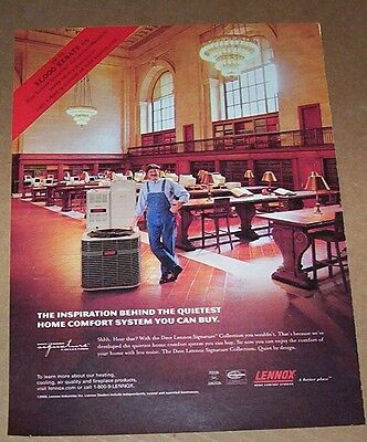 2002 phrasing ad foot-boy - LENNOX heating cooling well-informed in security systems Advertising