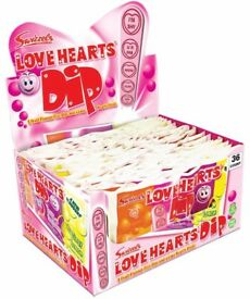 Swizzels Love Hearts Dip, Box of 36 x 23g Packs