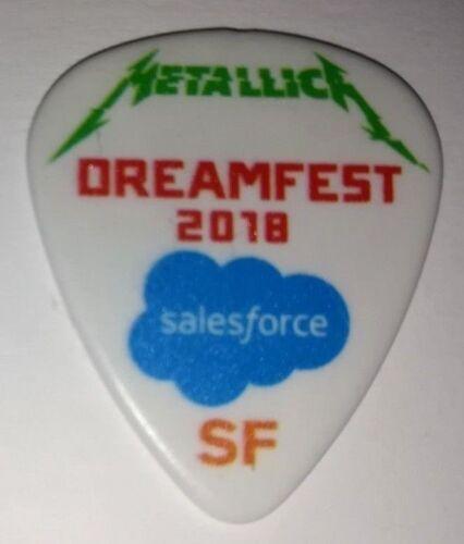 Metallica Dreamfest Dreamforce Salesforce Guitar PICK 2018 San Francisco