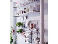 Metal Shelf/ Ikea Grunwald stainless steel shelf
