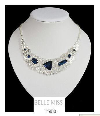 Luxus Halskette Statement Kette Metall Glas Belle Miss Paris Collier