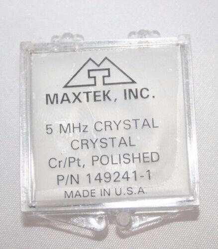 Sensor Crystal, 5 MHz, 90°C, Cr/Pt, polished