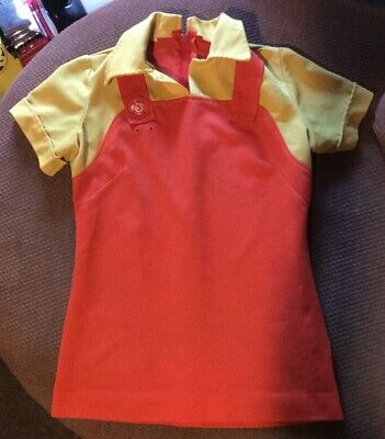 NOS VTG 70s JACK IN THE BOX UNIFORM Fast Food Counter Butterfly Collar Mens