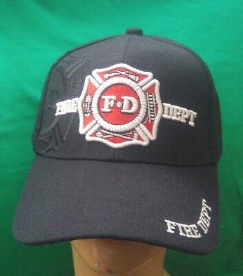 FIRE FIGHTER BALL CAP FIRST RESPONDER, FIRE DEPARTMENT HAT ADJUSTABLE HAT ()