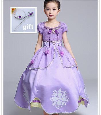 Disney Princess Sofia the First Fancy Party Dress Xmas Halloween Cosplay Costume](Sofia Halloween)