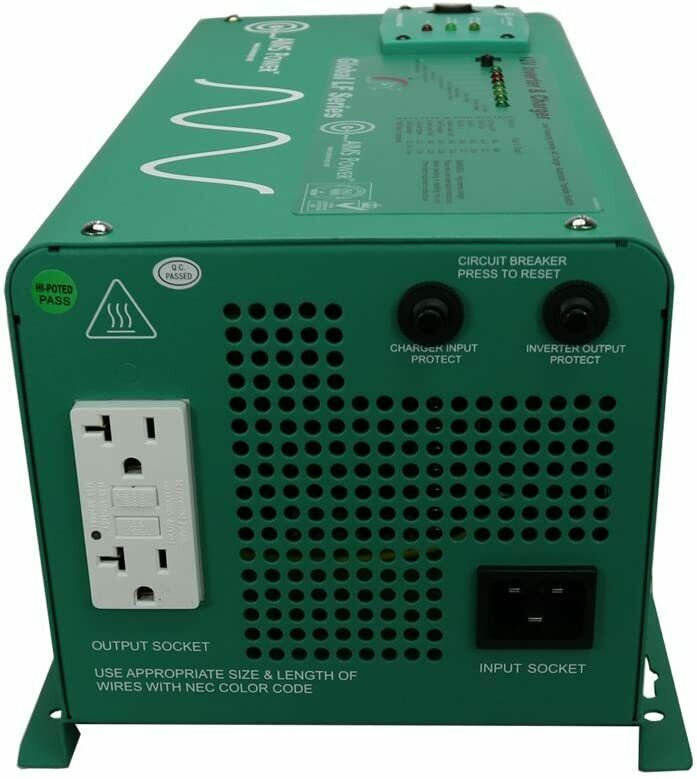 AIMS Power PICOGLF12W12V120AL Green 1250W Power Inverter Charger with Transfe...