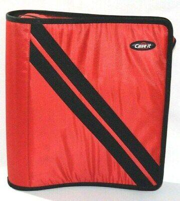 Case It Binder Red 3