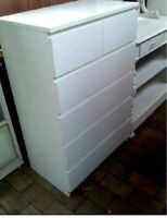Ikea commode Malm blanc 6 tiroirs excellente condition