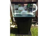 Fish tank with stand / cabinet light air pump and filter £50
