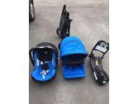 Britax B-Dual Pram, Car Seat & Isofix