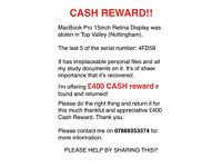 £400 CASH REWARD