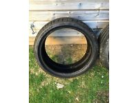 2 Dunlop runflat tyres 205 40 18 like new Audi bmw Mercedes mini seat vw skoda polo