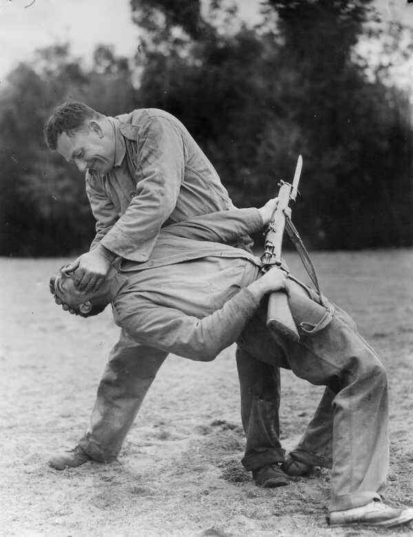 WW2  Photo Australia Troops Hand to Hand Training  WWII  World War Two ANZAC