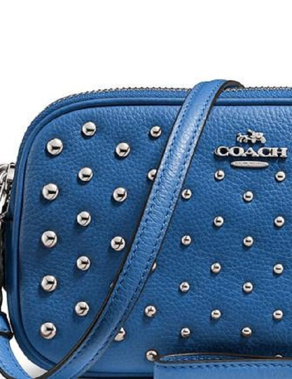 New Coach CROSSBODY clutch polished pebble leather with ombr