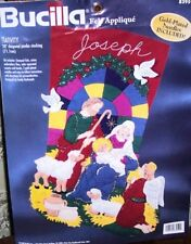 "Bucilla JUMBO ""NATIVITY"" Felt Christmas Stocking Kit-28"" RARE Sterilized 83959 | eBay"